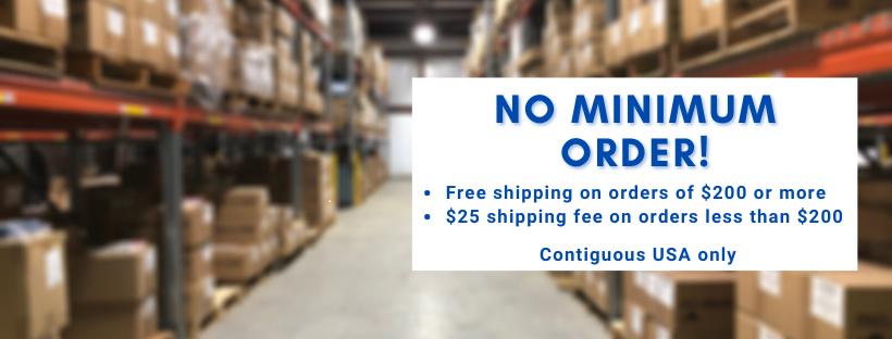No more minimum order!